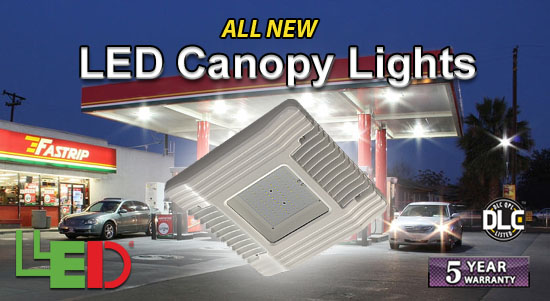 LEDtronics DLC-Listed LED Canopy Lights!