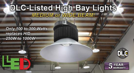 LEDtronics DLC-Listed LED High Bay Lights!