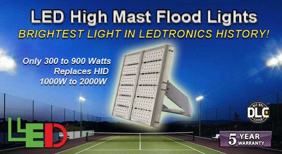 LEDtronics DLC-Listed LED High Mast Flood Lights!